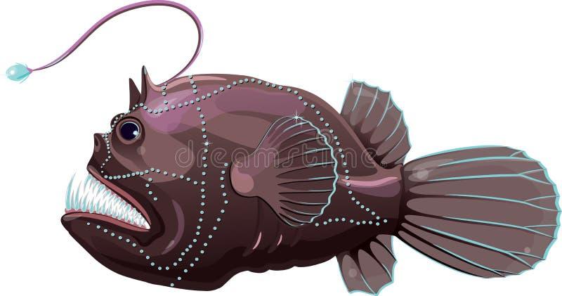 Diabo-marinho do mar profundo ilustração royalty free