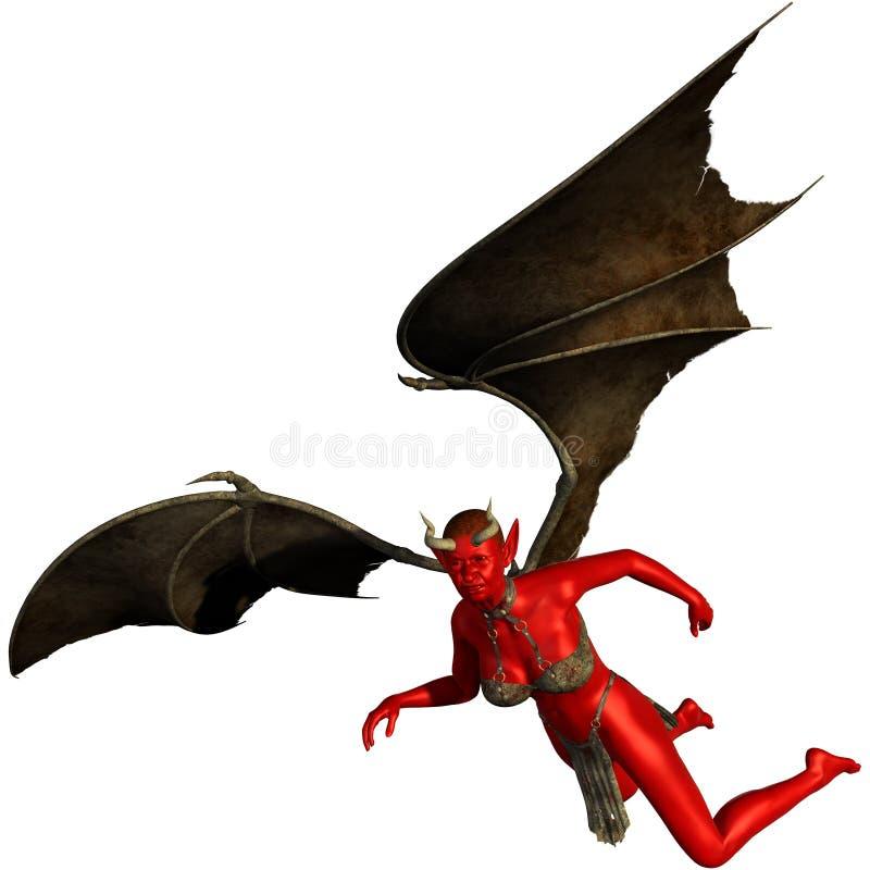 Diabo mau do demônio da mulher ilustração royalty free
