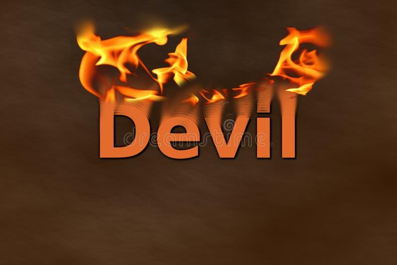 Diabo no fogo ilustração do vetor