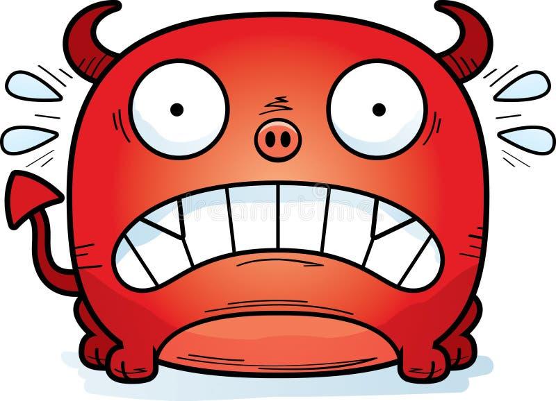 Diabo pequeno terrificado ilustração do vetor