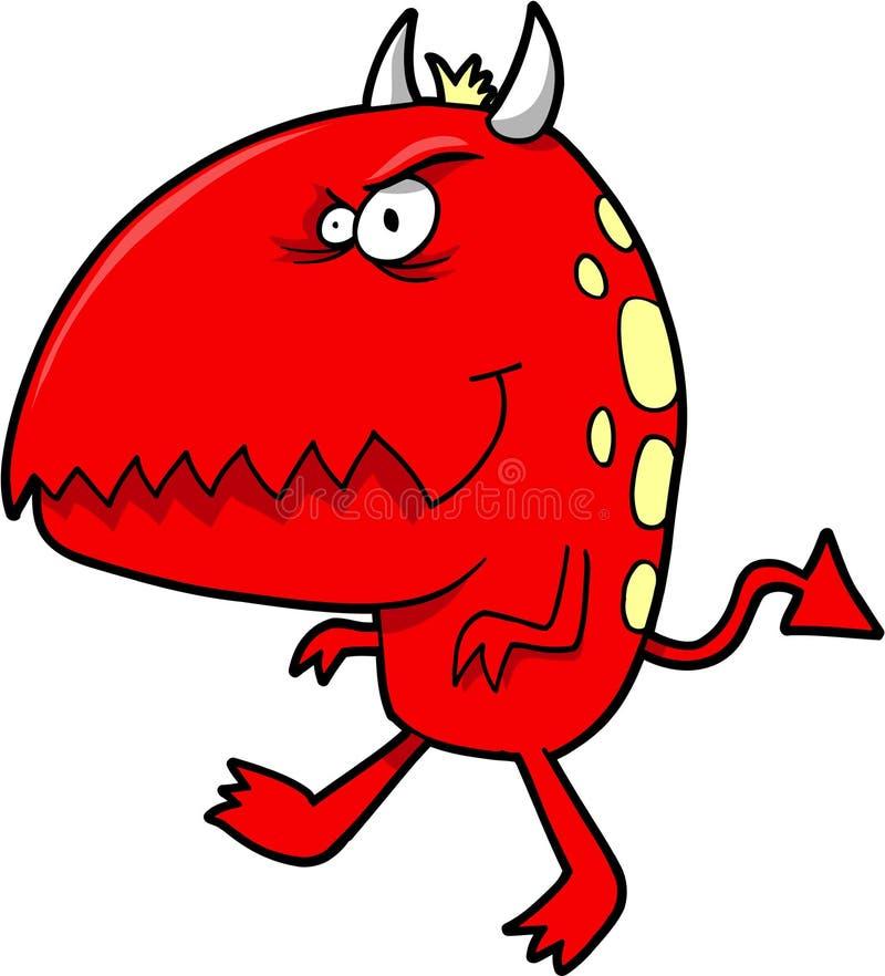 Diabo pequeno vermelho ilustração do vetor