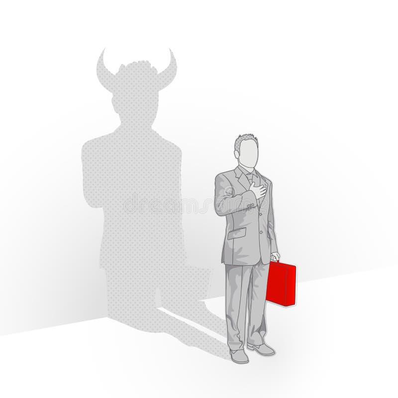 Diabo que você conhece ilustração stock