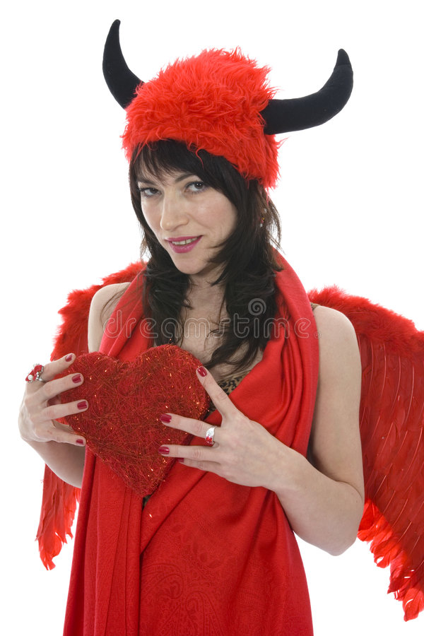 Diabo sexual da mulher fotografia de stock royalty free