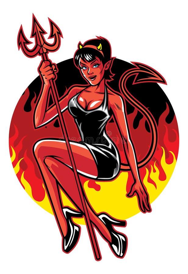 Diabo 'sexy' ilustração do vetor