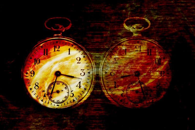 Diabolic abstract clock stock image