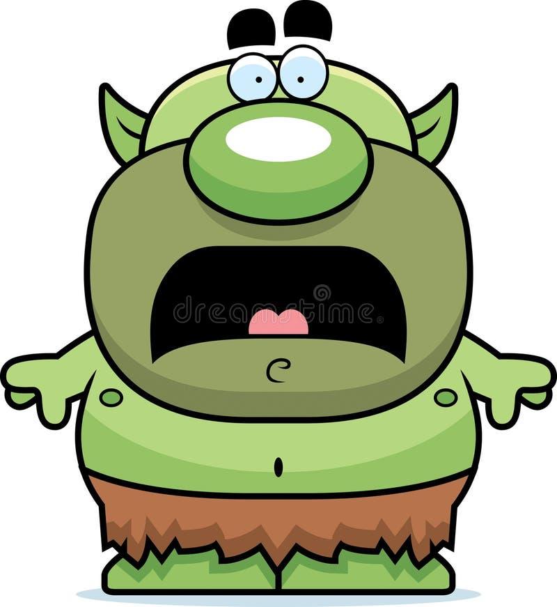 Diabrete assustado dos desenhos animados ilustração stock
