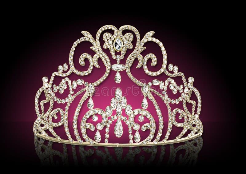 Diadeem vrouwelijk met bezinning royalty-vrije illustratie