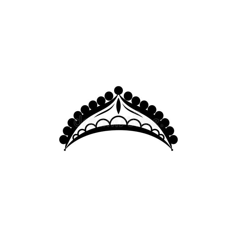 Diadeempictogram Het pictogram van het diadeemelement Grafisch het ontwerppictogram van de premiekwaliteit Babytekens, de inzamel royalty-vrije illustratie