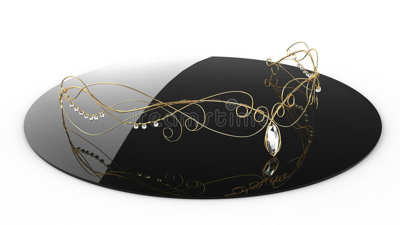 Diadem золота с диамантами #1 бесплатная иллюстрация