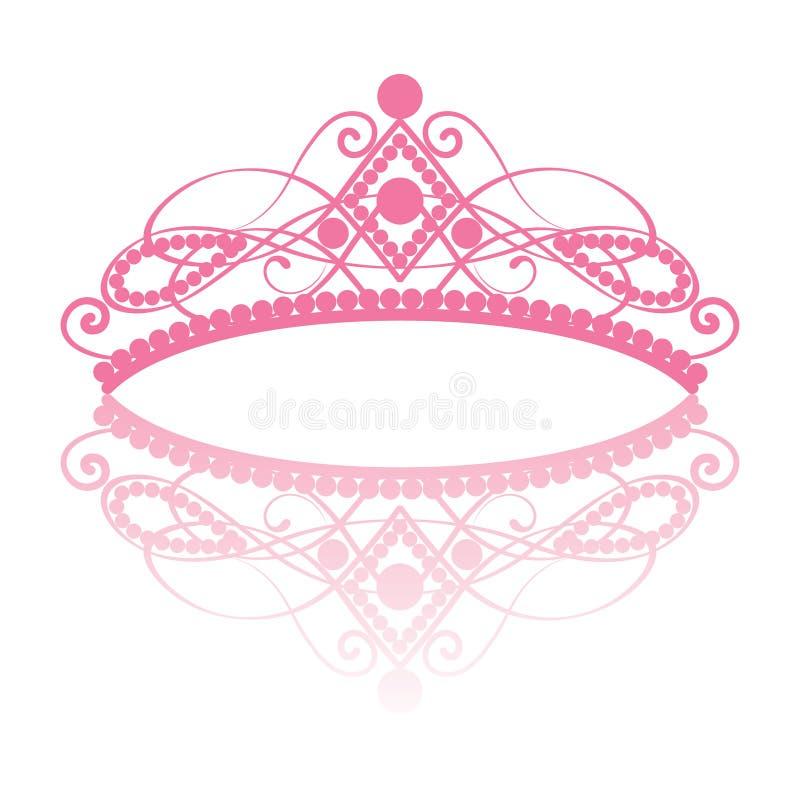diadem Тиара элегантности женственная с отражением иллюстрация вектора