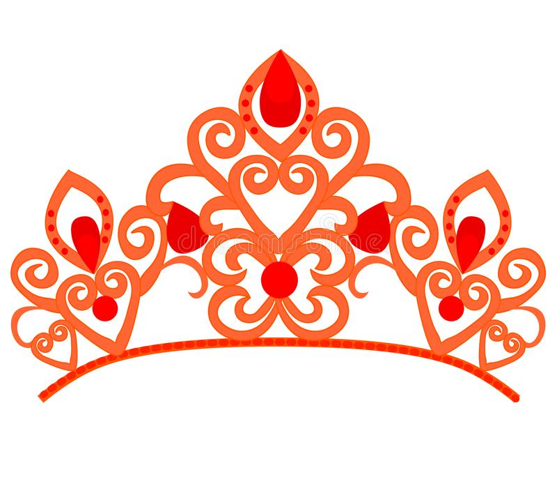 Абстрактный роскошный, королевский золотой дизайн вектора значка логотипа компании Элегантная крона, тиара, символ diadem наградн иллюстрация вектора