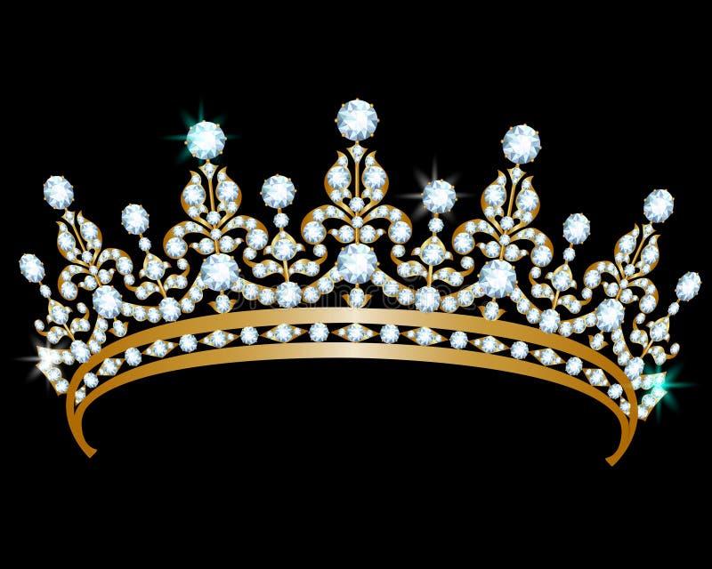 Diadema del diamante stock de ilustración