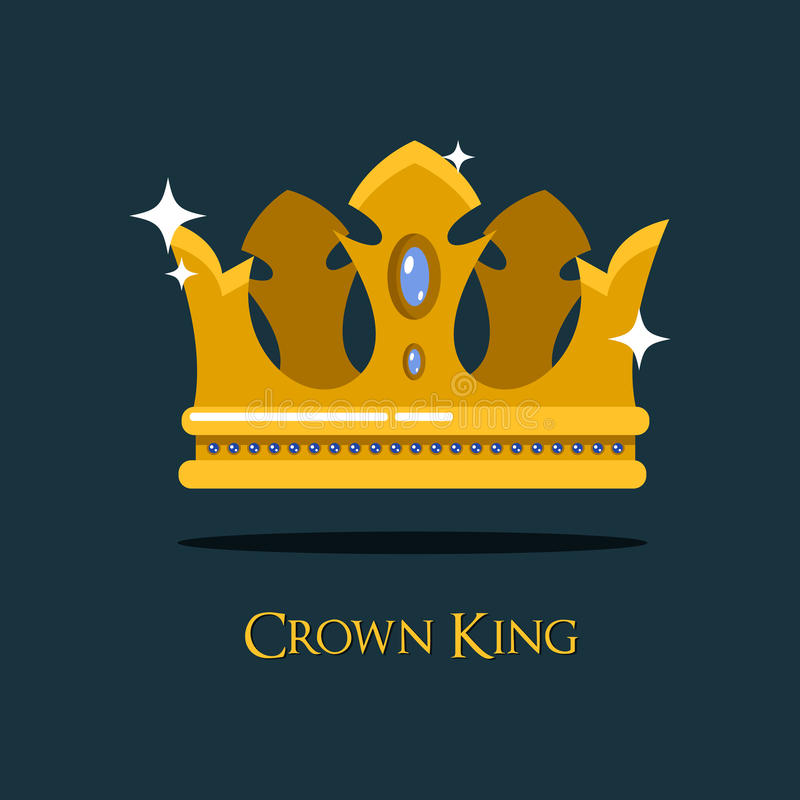 Diadema del oro de la reina o del rey o corona real libre illustration