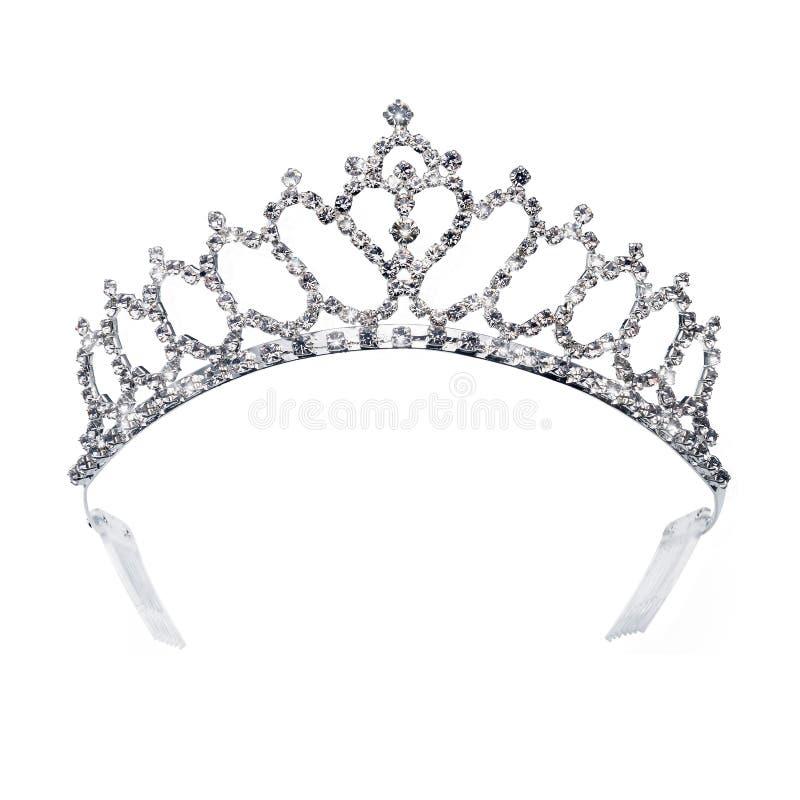 Diadema dell'oro del diamante per principessa fotografia stock libera da diritti