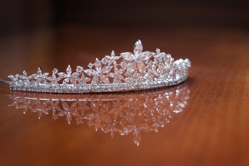 Diadema do casamento, coroa para a princesa Joia, riqueza imagens de stock royalty free
