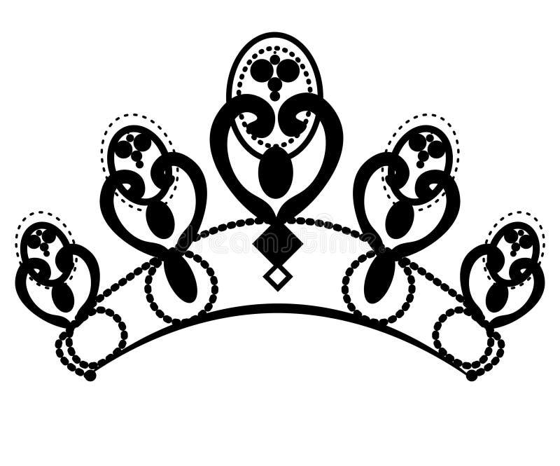 Diadema femminile di nozze dell'illustrazione illustrazione di stock