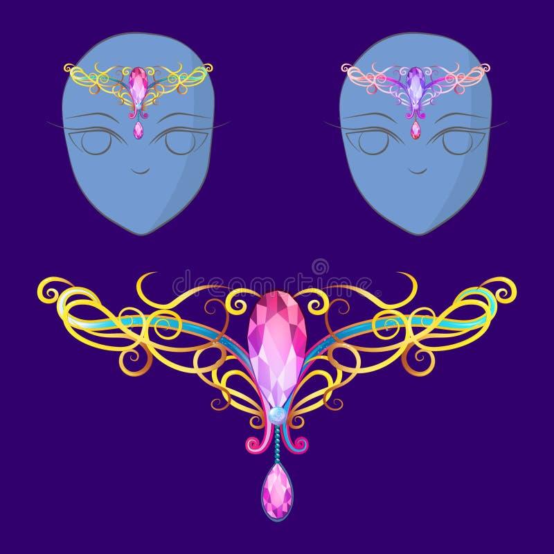 Diadema para fadas ou princesas ilustração royalty free