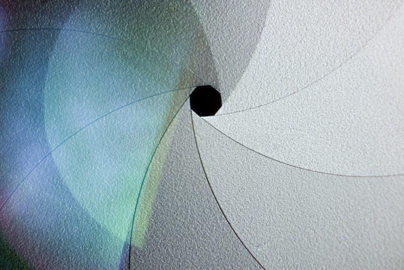 Diafragma da lente foto de stock