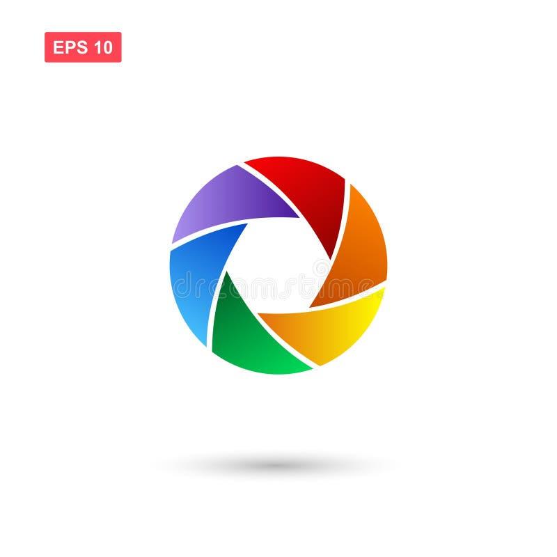 Diafragma ou ícone do vetor da abertura isolado com cores ilustração royalty free