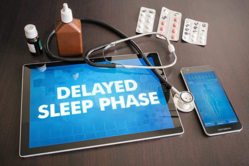 Diagnóstico atrasado da fase do sono (desordem neurológica) médico imagens de stock