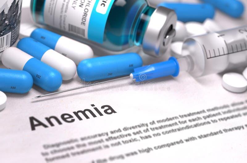 Diagnóstico da anemia Conceito MÉDICO Composição de fotos de stock royalty free