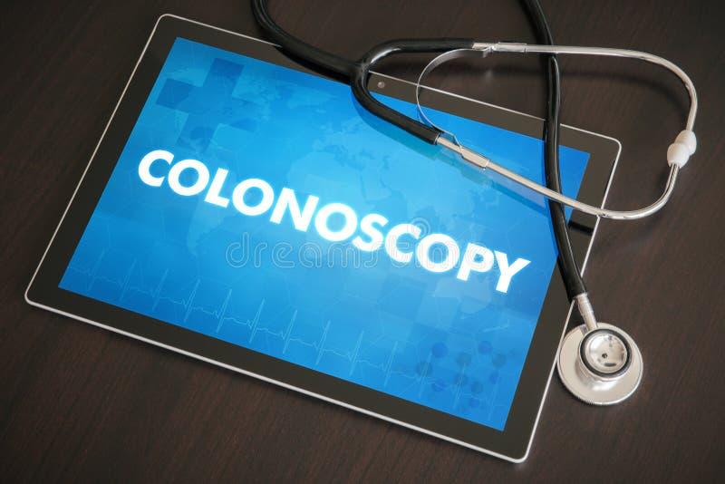 Diagnóstico da colonoscopia (doença gastrintestinal relativa) médico ilustração stock