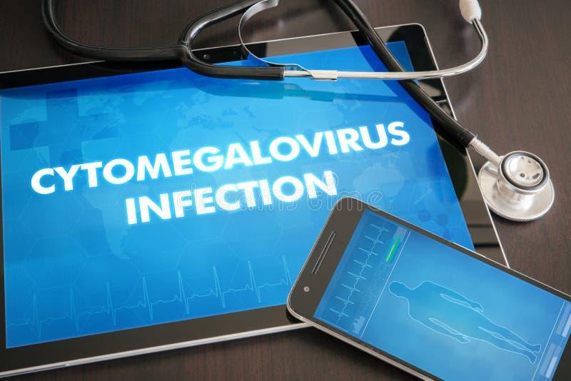 Diagnóstico da infecção do Cytomegalovirus (desordem neurológica) imagens de stock