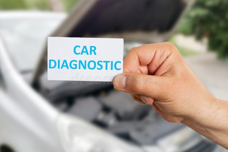 Diagnóstico do carro da propaganda do mecânico imagem de stock royalty free
