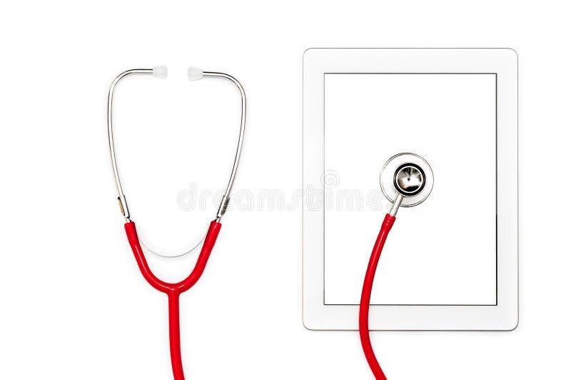 Diagnóstico do computador da tabuleta e conceito do reparo. fotos de stock royalty free