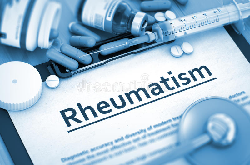 Diagnóstico do reumatismo Conceito MÉDICO fotografia de stock royalty free