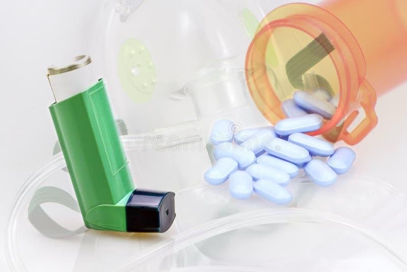 Diagnóstico e tratamento da asma fotografia de stock
