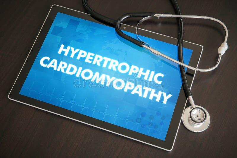 Diagnóstico Hypertrophic c médico da cardiomiopatia (desordem de coração) imagem de stock royalty free
