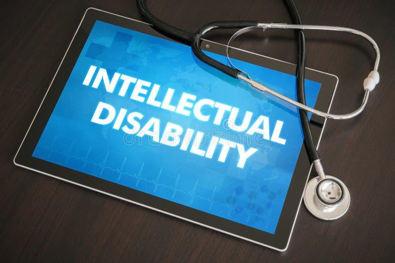 Diagnóstico intelectual da inabilidade (desordem congenital) médico imagem de stock royalty free