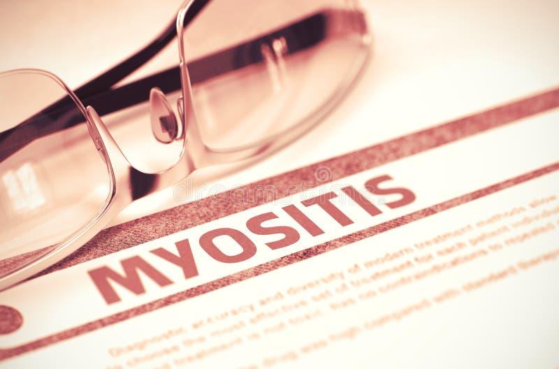 Diagnóstico - Myositis Conceito MÉDICO ilustração 3D fotografia de stock royalty free