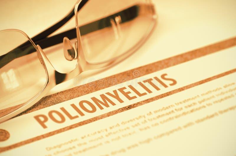 Diagnóstico - poliomielite Conceito MÉDICO ilustração 3D fotografia de stock royalty free