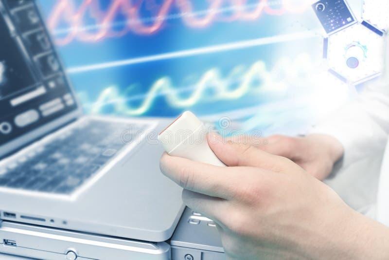 Diagnósticos do ultrassom imagem de stock royalty free