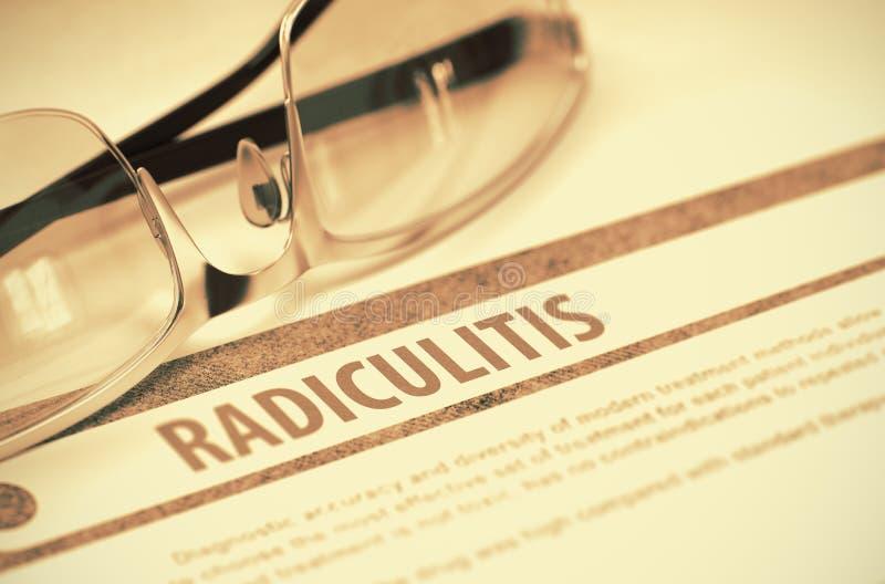 Diagnos - Radiculitis stetoskop för pengar för begreppsliesmedicin set illustration 3d arkivfoto