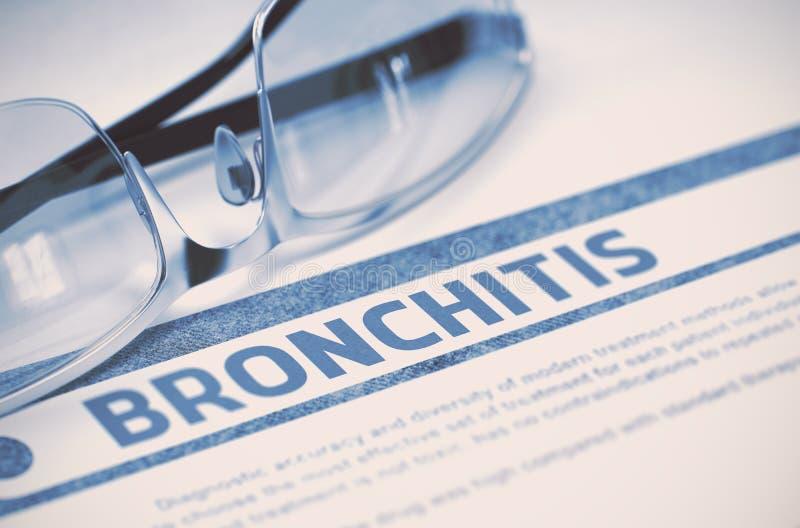 Diagnose - Bronchitis Stethoskop liegt auf Set Geld Abbildung 3D lizenzfreie abbildung