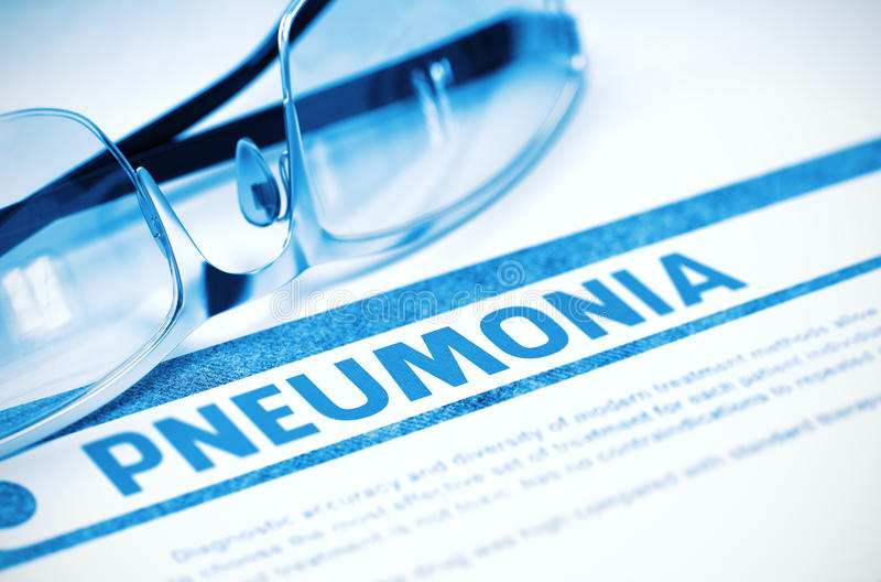Diagnose - Pneumonie Stethoskop liegt auf Set Geld Abbildung 3D lizenzfreie stockfotos