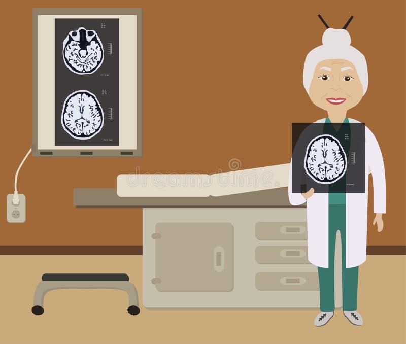 Diagnose van hersenenbeeld royalty-vrije stock afbeeldingen
