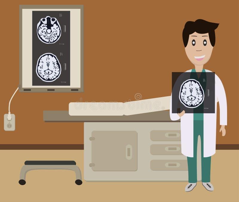 Diagnose van hersenenbeeld stock afbeelding