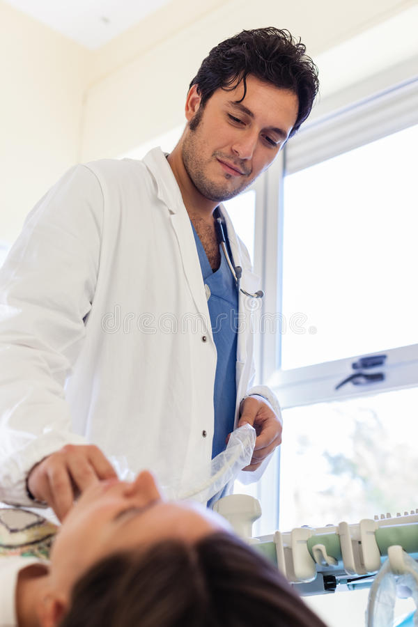 Diagnosesonography stockfoto