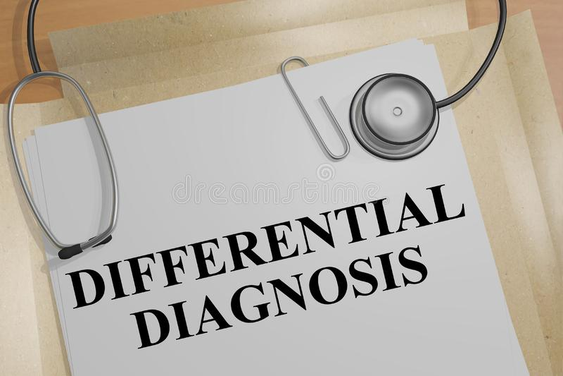 Diagnosi differenziale - concetto medico royalty illustrazione gratis