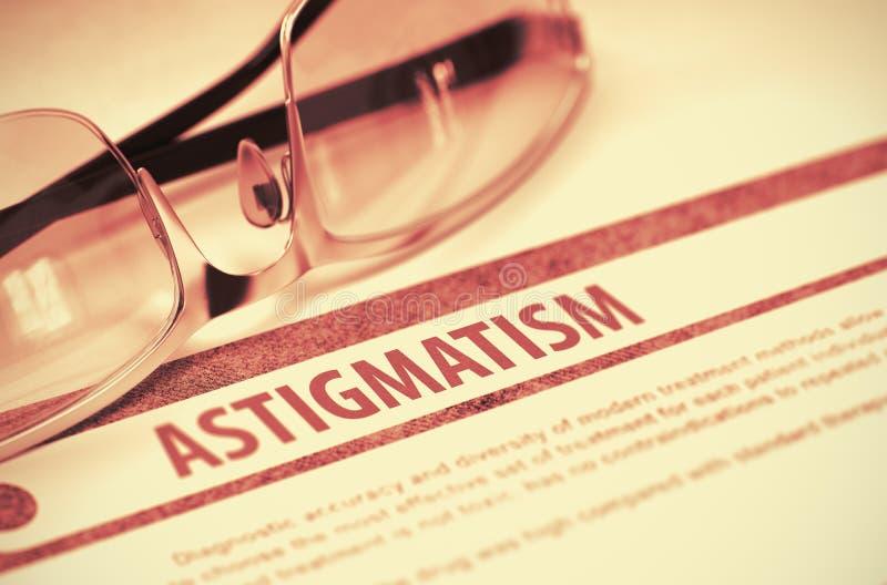Diagnosis - astigmatismo Concepto de la medicina ilustración 3D fotografía de archivo libre de regalías