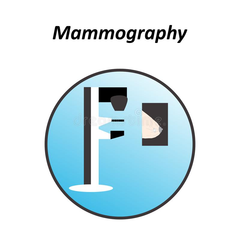 Diagnosis of breast cancer. World day against breast cancer. Mammography. Infographics. Vector illustration on isolated. Background vector illustration