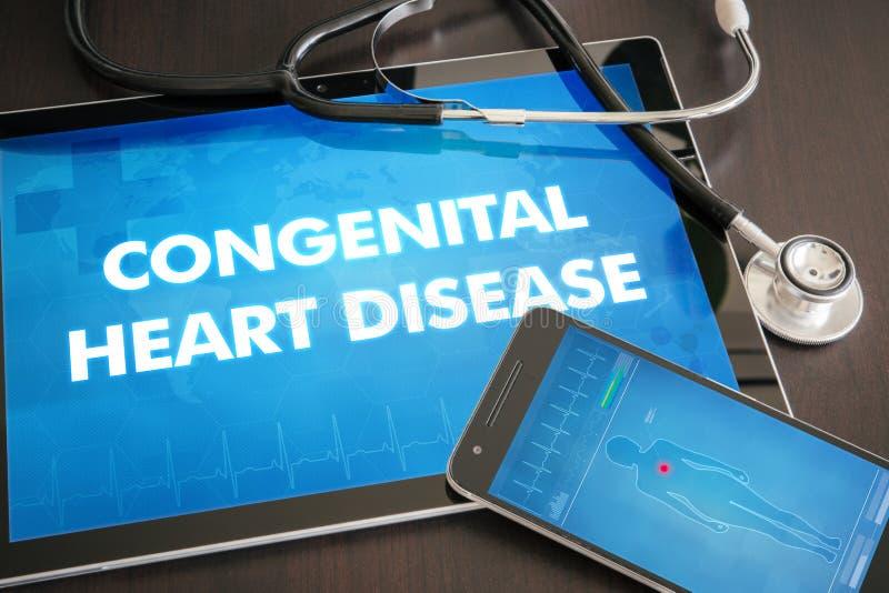Diagnosis congénita de la enfermedad cardíaca (desorden congénito) médica fotografía de archivo