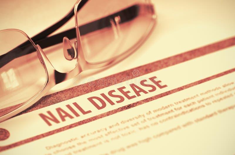 Diagnosis - enfermedad del clavo Concepto de la medicina ilustración 3D foto de archivo libre de regalías
