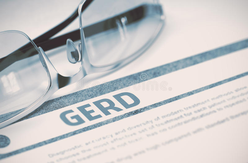 Diagnosis - GERD Concepto de la medicina ilustración 3D imagen de archivo libre de regalías