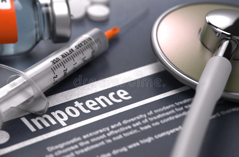 Diagnosis - Impotence. Medical Concept stock image