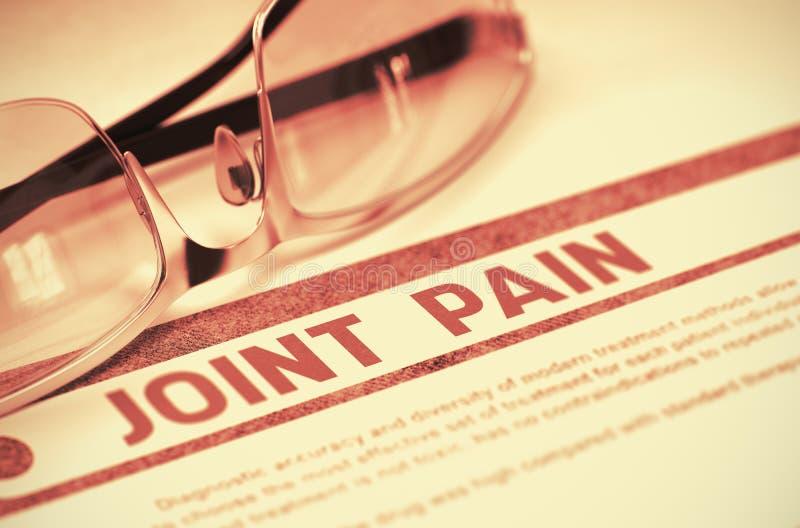 Diagnosis - Joint Pain. Medicine Concept. 3D Illustration. vector illustration